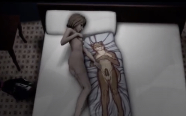 Chloe Price from Life Is Strange decides to rub her pussy before going to sleep