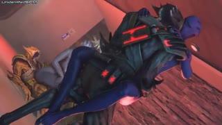 Miranda starring in a steamy hot Mass Effect 3D porno parody