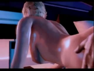 3D characters from the video game Mass Effect have sex
