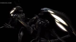 Xenomorph with a massive dick is penetrating horny Ripley