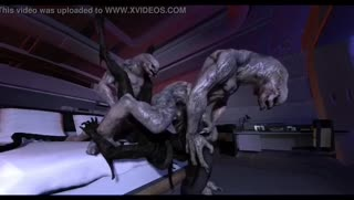 Xenomorph has a hot threesome 3D animated action