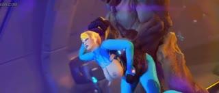 Metroid parody with anal screwing featuring Samus