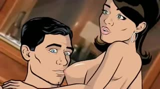 Lana Kane fucks Sterling Archer in a beautifully animated sex scene with deepthroating