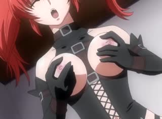 Hot redhead anime slut with shaved pussy gets plowed in her holes