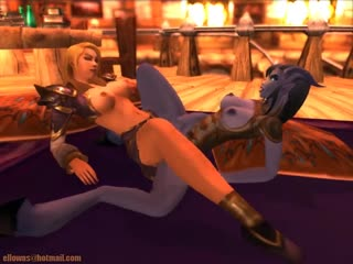 Lesbian activities for a pair of World of Warcraft characters