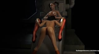 3D lesbian porno video with Harley Quinn and Wonder Woman