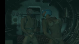 Hot underwater masturbation and hardcore fucking action in anime porn