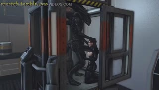 Two female astronauts abducted and facefucked by disgusting aliens