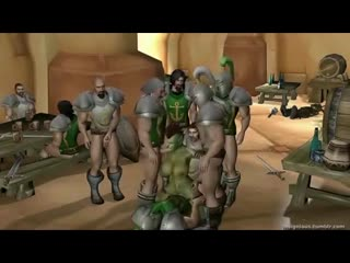 Orc slut is banged by some big dicked humans