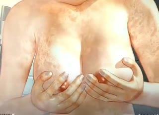 3D animated geisha sucks a dick in bathroom POV