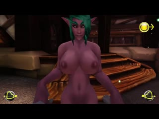 Three futa demons fuck each other with their massive cocks