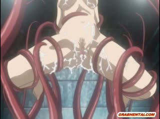 Tentacle sex with a big-breasted anime loli