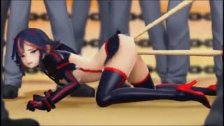 Kill la Kill chick is gang banged and she loves it